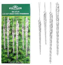 24 set assorted clear glass icicle ornaments 10 86 reg