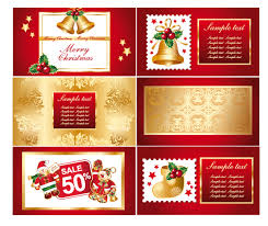 a variety of christmas background vector greeting cards free