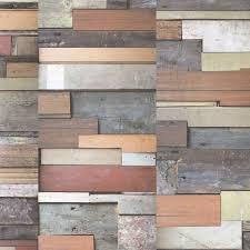 reclaimed wood panel effect wallpaper by woodchip u0026 magnolia