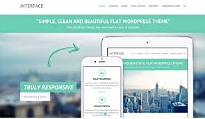 20 fantastic flat design themes for simple stylish