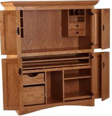 Wood Computer Armoire Solid Wood Computer Armoire Hutch Desk Storage Cabinet Home
