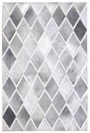 Modern Pattern Rugs Interior Gray White Area Rug Square Grey White Parallelogram Pattern