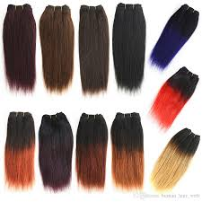 Blonde Weft Hair Extensions by Cheap Wholesale 8 Inch Ombre Human Hair Weave 50g Pc Straight