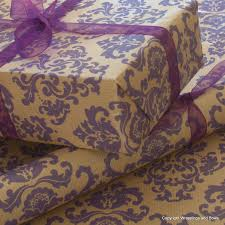 kraft christmas wrapping paper kraft patterned brown gift wrapping paper purple baroque