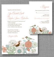 bird wedding invitations vintage birds wedding invitation free printable wedding