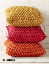 free crochet patterns for home decor bobble licious pillows crochet yarnspirations patons crochet