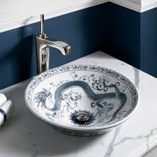 Kohler Bathroom Design Ideas how cool is this imperial blue chinese dragon sink by kohler