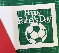 paper cut template card happy s day football