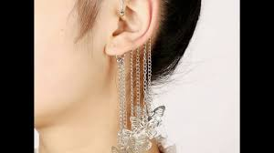 cuff earrings with chain new arrival chain link ear cuff earrings