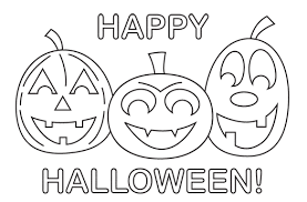 Happy Coloring Pages Printable Halloween Hallowen Coloring Pages Happy Coloring Pages