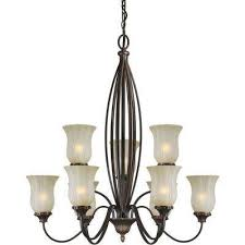 9 Bulb Chandelier Talista Chandeliers Lighting The Home Depot