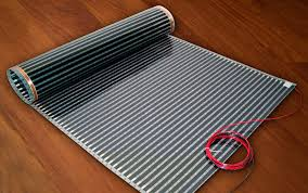 floor in floor heating laminate on floor and electric