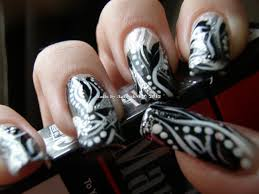 black and silver nail designs nail art