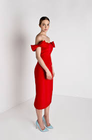 the shoulder bow silk faille dress page 18584124120 alexia