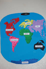 Europe Continent Map by Mommy U0027s Baby Love Homemade Inexpensive Continent Map