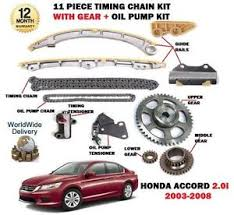 for honda accord 2 0 k20a6 2003 2008 timing chain gears oil