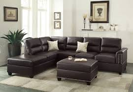 bonded leather sectional sofa espresso dark brown bonded leather sectional sofa and ottoman set