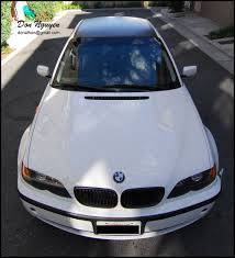 matte white bmw bmw 325i e46 sedan matte black roof vinyl car wrap u2014 wannabe