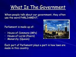 What Is A Government Cabinet Syllabus Area One Living In A Democracy The British Parliament