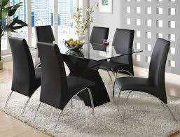 Dining Room Luxurious Black Dining Room Sets With Cushioned - Black glass dining room sets