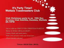 invitation design ideas wattala toastmasters club christmas