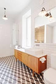 mid century modern bathroom design mid century modern bathroom with unique ceramic bathroom floor
