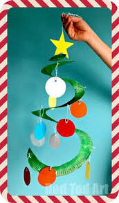 tree door decoration made with butcher paper cool for