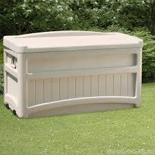 suncast 276 litre plastic storage box with seat