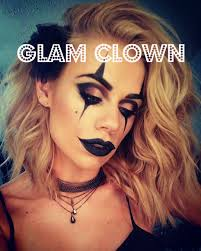 Halloween Makeup Clown Faces by Halloween Makeup Glam Clown Youtube