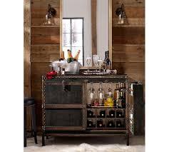 bar cabinet furniture ludlow trunk bar cabinet pottery barn