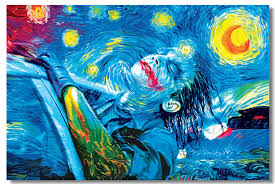 1x psychedelic jokey the starry night trippy surreal abstract 1x psychedelic jokey the starry night trippy surreal abstract digital art cloth wall poster 36x24 20x13 inch room prints 11 in wall stickers from home