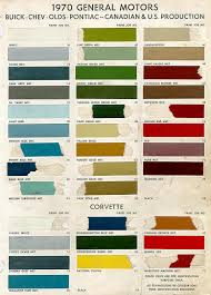 1970 chevelle paint charts and codes