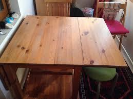 ikea masa kahverengi ikea ikea katlanabilir masif masa kullanılmış yemek
