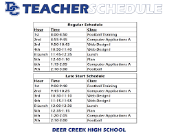 high school web design class schedule deer creek high school