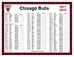 printable bulls schedule printable 2017 2018 chicago bulls schedule