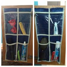 kids bathroom organization dollar tree wall organizer cut in half
