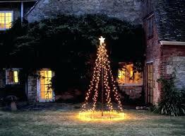 christmas tree solar lights outdoors hanging tree lights onewayfarms com