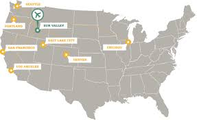 Airports Around Los Angeles Map by Fly To Sun Valley Idaho Direct Flights And Transportation