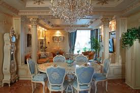 furniture gorgeous baroque dining room with luxury crystal