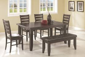 cappuccino casual dining set with bench 102721 coaster furniture
