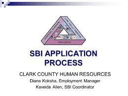 sbi application process clark county human resources diane koksha