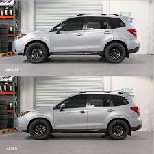 subaru forester lowered mann engineering lowering springs forester