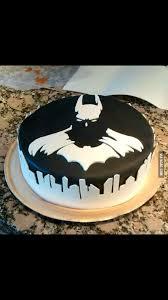 batman superheroes cake gotham city birthday boy black and white