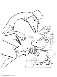 coloring pages with buddy and mr conductor