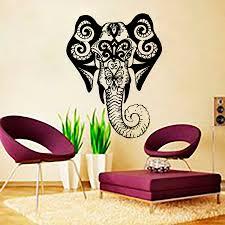 Wall Decals Vinyl Sticker Mandala by Aliexpress Com Buy Living Room Wall Art Sticker Indina Elephant