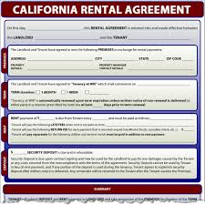 Free Lease Agreement Rental Agreement