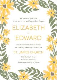 Sunflower Wedding Invitations Sunflower Wedding Invitations Match Your Color U0026 Style Free