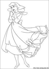 cinderella coloring picture coloring pages kids