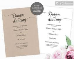 wedding reception only invitations reception only invitation template printable rustic