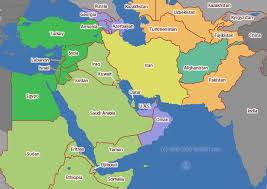 middle east map india middle east time zone map